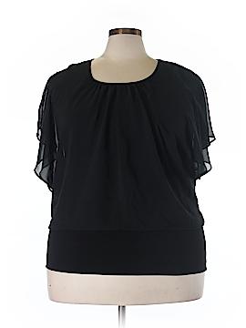 Style&Co Short Sleeve Blouse Size 2X (Plus)