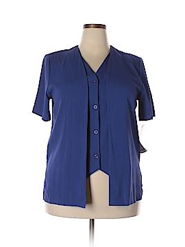 Alfred Dunner Short Sleeve Button-Down Shirt Size 14 (Petite)