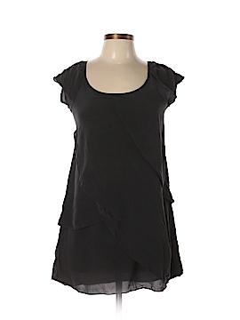 Lush Short Sleeve Silk Top Size S