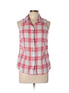 23rd St. Sleeveless Button-Down Shirt Size M