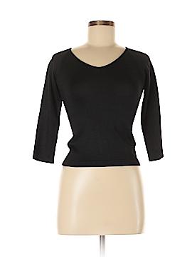 Linda Allard Ellen Tracy 3/4 Sleeve Silk Top Size P (Petite)