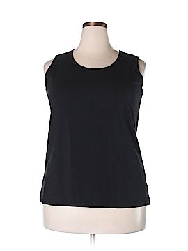 D&Co. Sleeveless T-Shirt Size 1X (Plus)