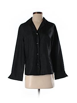 Silk Box Long Sleeve Silk Top Size 8