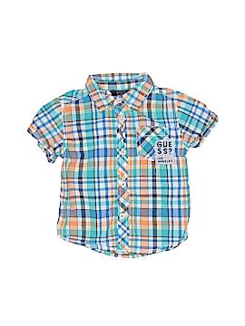 Guess Short Sleeve Button-Down Shirt Size 12 mo