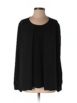 Mary McFadden Long Sleeve Blouse Size 14