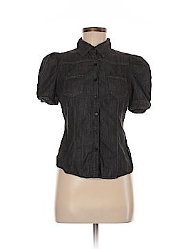 Papaya Short Sleeve Button-Down Shirt Size M