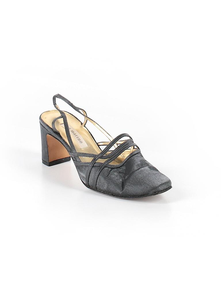 55d5396ad9c94b Ann Marino Solid Silver Heels Size 7 1 2 - 71% off