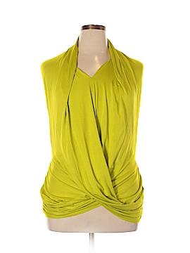 Josie Natori Short Sleeve Top Size L