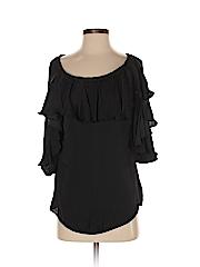 Bisou Bisou Women 3/4 Sleeve Blouse Size XS