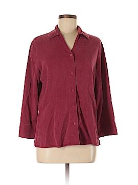Tianello 3/4 Sleeve Button-Down Shirt Size M