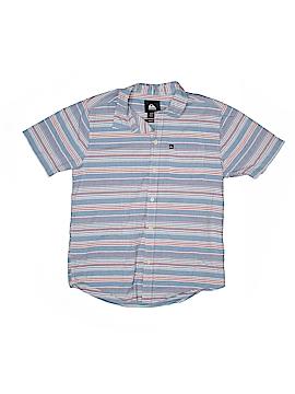Quiksilver Short Sleeve Button-Down Shirt Size M (Kids)