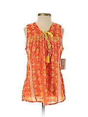 Crown & Ivy Women Sleeveless Blouse Size S (Petite)