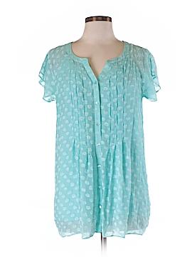 Soft Surroundings Short Sleeve Silk Top Size M