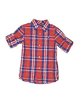 Tommy Hilfiger Short Sleeve Button-Down Shirt Size 4