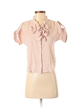 Plains & Prints Short Sleeve Button-Down Shirt Size 2