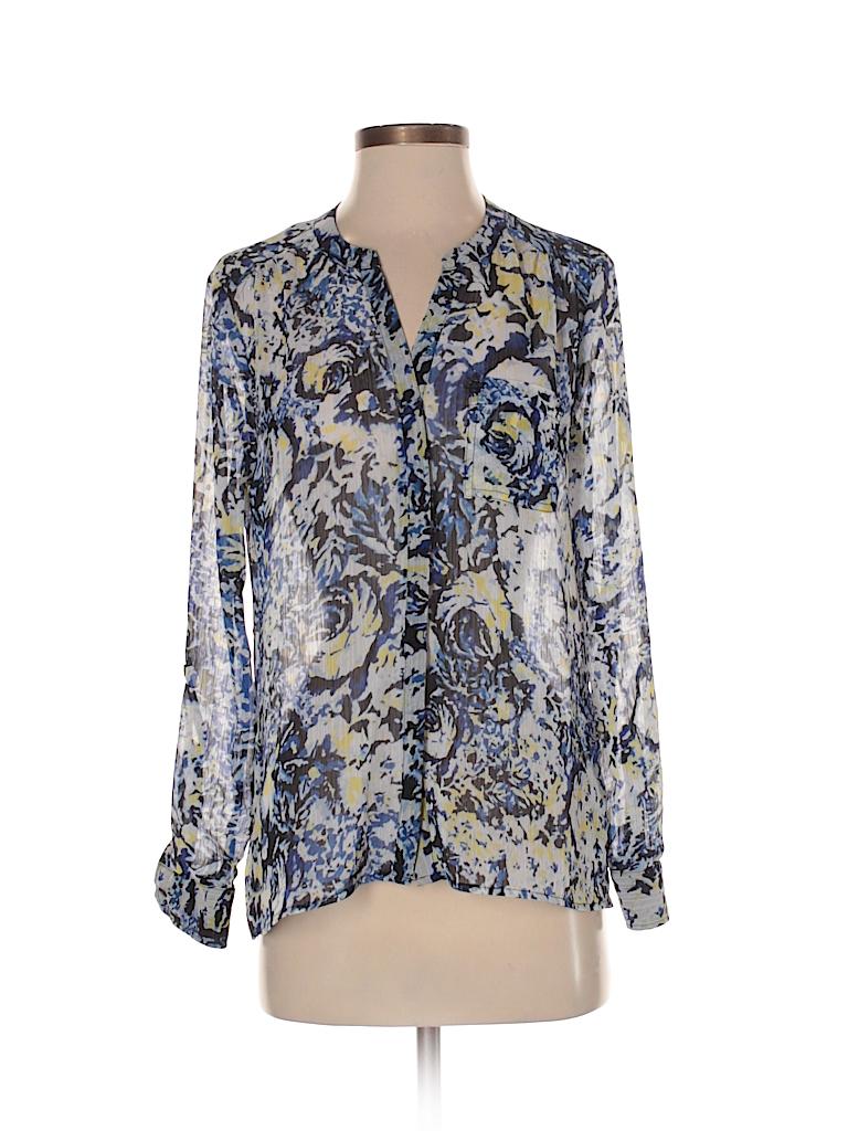 Liz Claiborne Women Long Sleeve Blouse Size S (Petite)