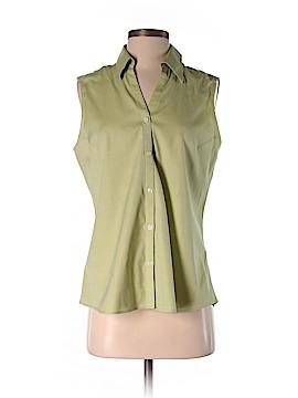 Eddie Bauer Sleeveless Button-Down Shirt Size M