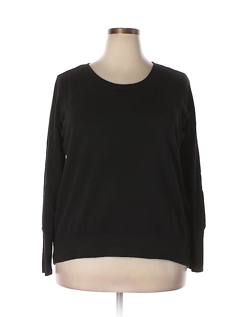 Xersion Solid Black Sweatshirt Size XXL - 52% off  dd7aac42c