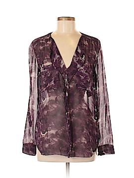 Babaton Long Sleeve Silk Top Size M