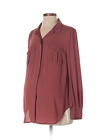 Noir Maternity Long Sleeve Blouse Size S (Maternity)
