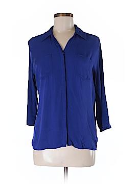 INC International Concepts 3/4 Sleeve Button-Down Shirt Size M
