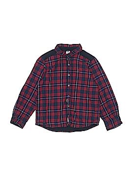Petit Bateau Long Sleeve Button-Down Shirt Size 8