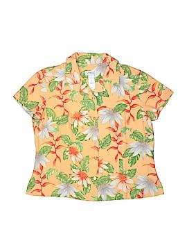 Liz Claiborne Golf Short Sleeve Silk Top Size M