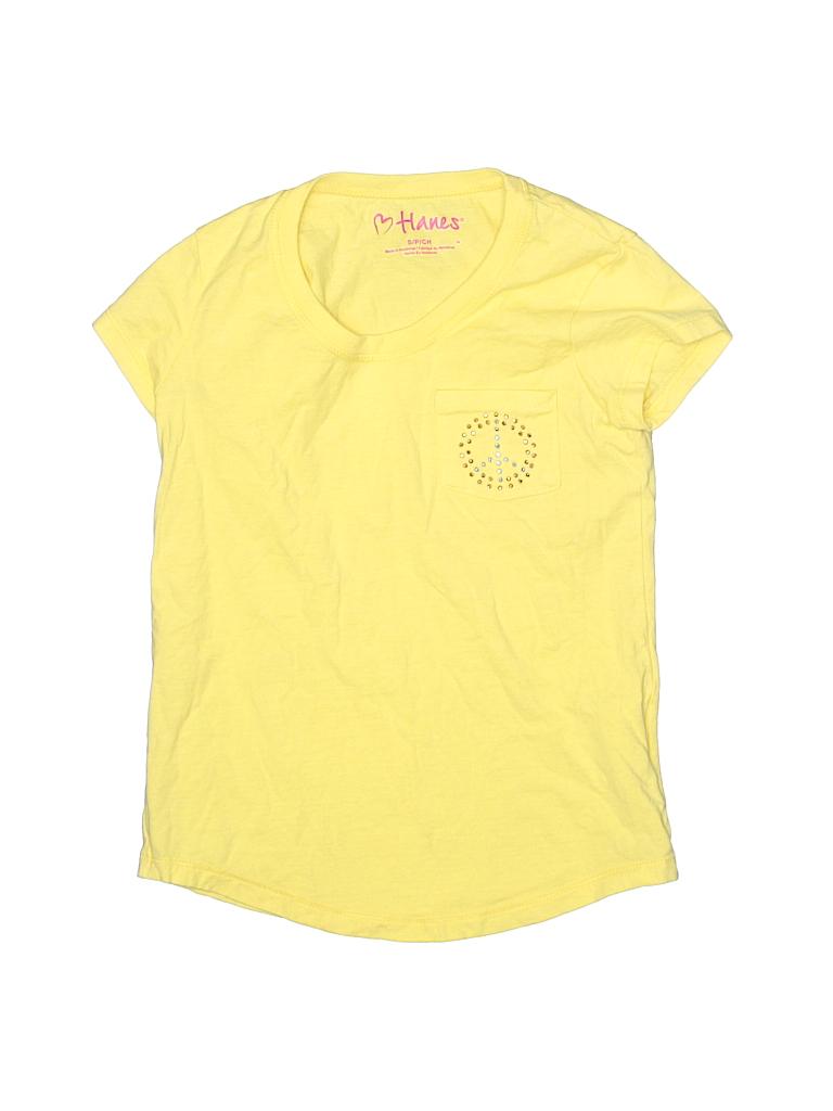 Hanes Girls Short Sleeve T-Shirt Size S (Kids)