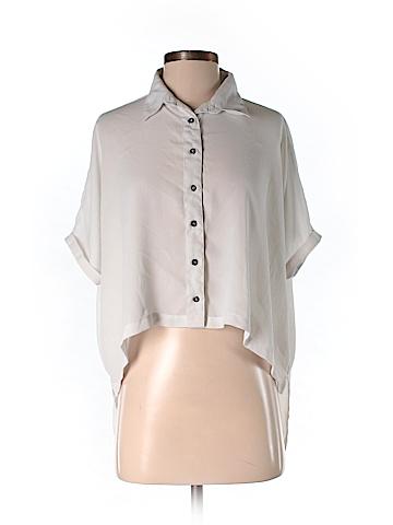 Mink Pink Short Sleeve Blouse Size S