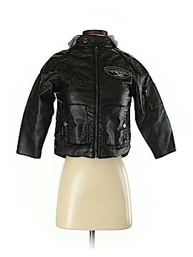 Hawke & Co. Women Faux Leather Jacket Size 5