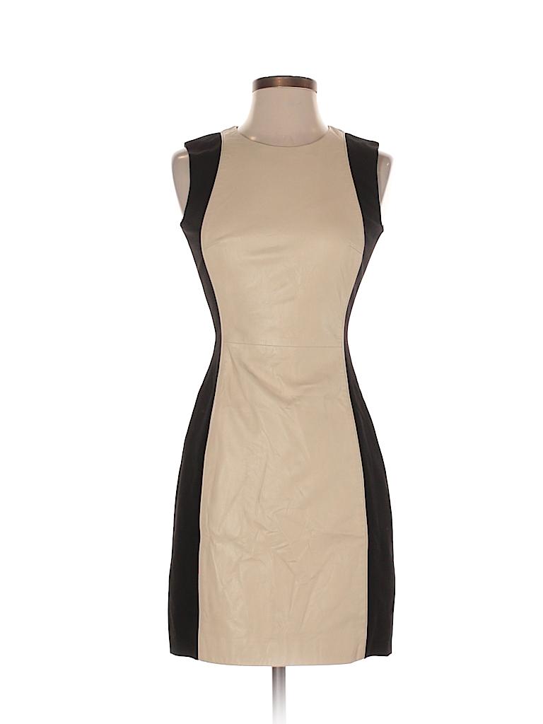 f81c0e01699 Aqua 100% Leather Color Block Tan Casual Dress Size XS - 82% off ...
