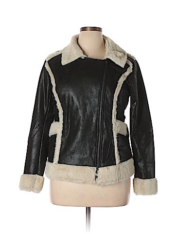 Mink Pink Faux Leather Jacket Size L