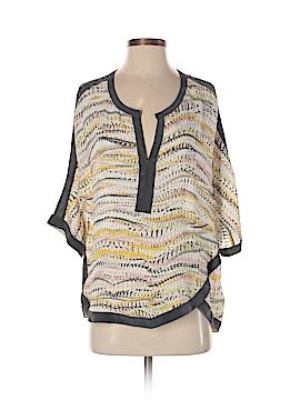 Michael Stars 3/4 Sleeve Silk Top Size Sm (0)