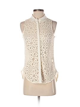 Addison Sleeveless Button-Down Shirt Size XS