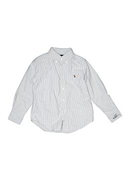 Ralph Lauren Baby Long Sleeve Button-Down Shirt Size 5