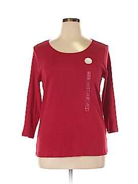 Charter Club 3/4 Sleeve T-Shirt Size 1X (Plus)