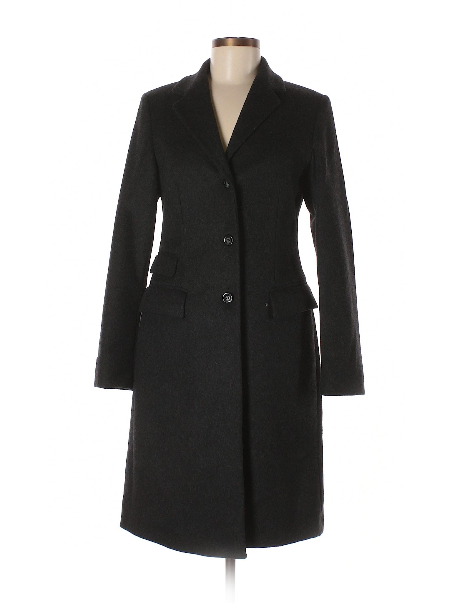 Sisley Solid Black Wool Coat Size 40 (IT) - 72% off  ac70a74c2