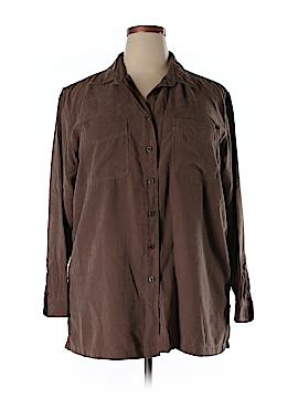 St. John's Bay Long Sleeve Button-Down Shirt Size 18 (Plus)