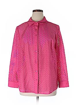 D&Co. Long Sleeve Button-Down Shirt Size 1X (Plus)