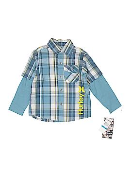 Hurley Long Sleeve Button-Down Shirt Size 18-24 mo