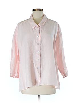 Cut.Loose 3/4 Sleeve Button-Down Shirt Size M