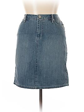 Nine West Vintage America Denim Skirt 31 Waist