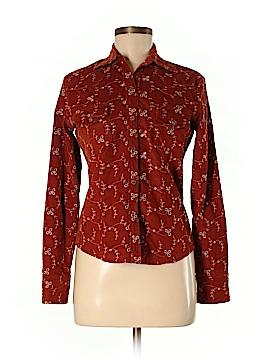 Fashionista Long Sleeve Button-Down Shirt Size M