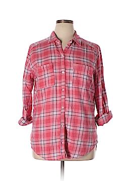 Hollister Long Sleeve Button-Down Shirt Size XL