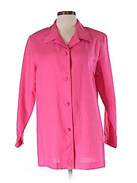 Jessica Holbrook 3/4 Sleeve Button-Down Shirt Size M
