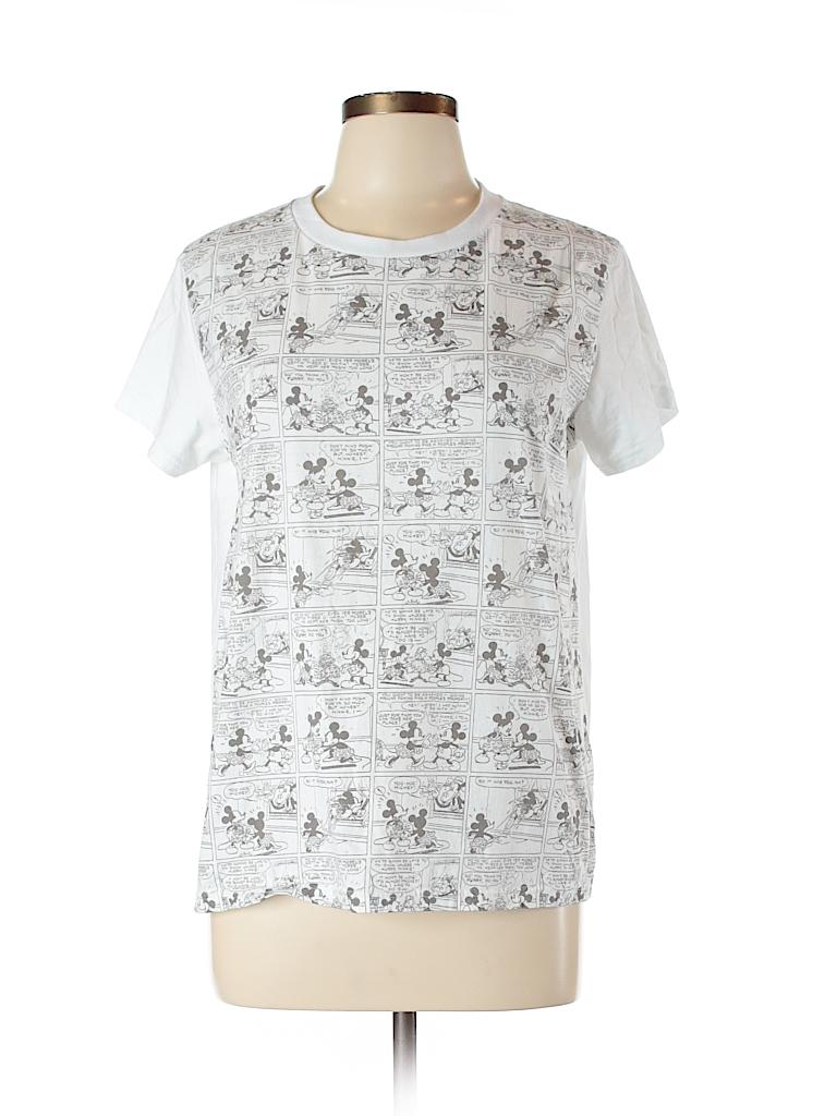 Uniqlo 100 cotton print white short sleeve t shirt size l for Uniqlo t shirt sizing