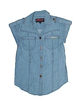 Dollhouse Short Sleeve Button-Down Shirt Size 6X
