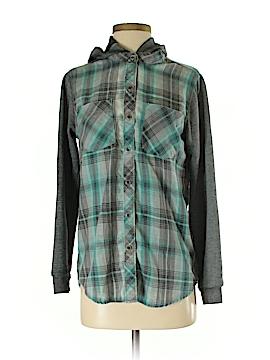 LA Hearts Long Sleeve Button-Down Shirt Size S