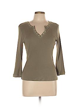 Sigrid Olsen 3/4 Sleeve Henley Size L