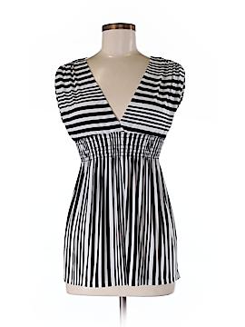 Khaki Krew Short Sleeve Blouse Size M